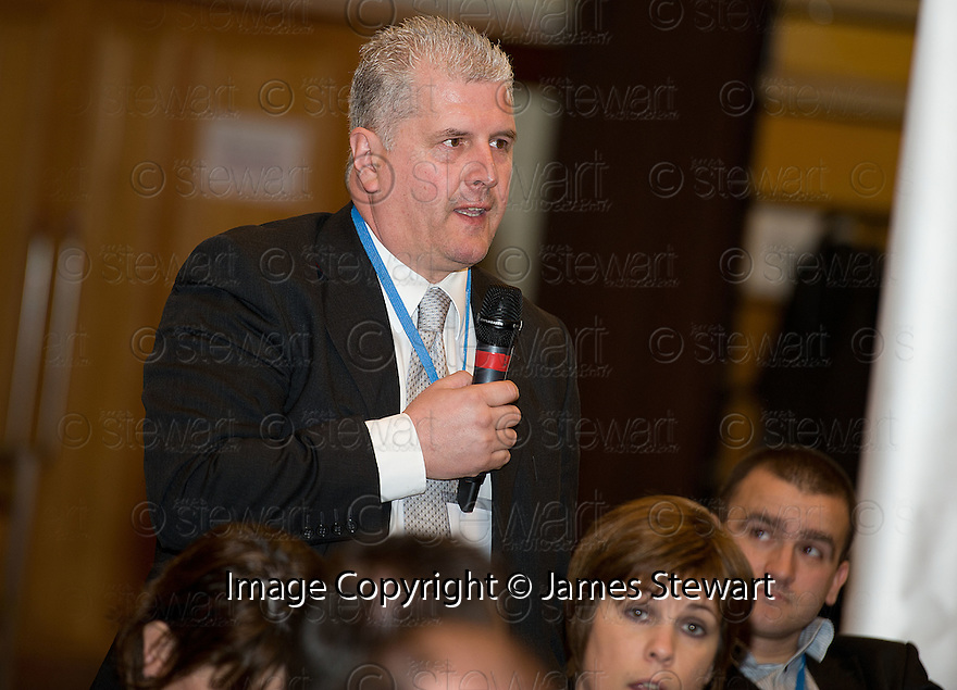 Delegates ask questions during the Q&A Session at the Falkirk Business Panel Update Event 2012, Falkirk Town Hall...