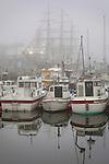 Boats in harbor, St. Olav Festival,Torshavn, Faroe Islands