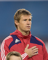 Chicago Fire forward Brian McBride (20). The New England Revolution tied the Chicago Fire, 0-0, at Gillette Stadium on October 17, 2009.