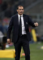 Calcio, Serie A: Inter - Juventus, Milano, stadio Giuseppe Meazza (San Siro), 28 aprile 2018.<br /> Juventus' coach Massimiliano Allegri speaks to his players during the Italian Serie A football match between Inter Milan and Juventus at Giuseppe Meazza (San Siro) stadium, April 28, 2018.<br /> UPDATE IMAGES PRESS/Isabella Bonotto
