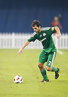 August 03 2010 Panathinaikos FC defender Josu Sarriegi No.3 in action during an international friendly between Inter Milan FC and Panathinaikos FC at the Rogers Centre in Toronto..Final score was 3-2 for Panathinaikos FC.