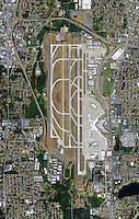aerial photo map of Seattle Tacoma International Airport Sea-Tac (SEA), Washington