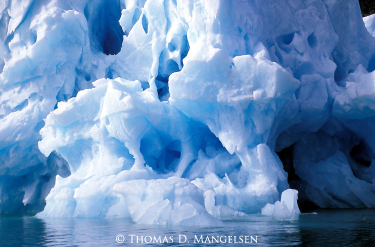 Iceberg off the coast of Svalbard, Norway.