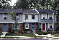 Reston:  Model Row Houses, 1985. In York Mills Lane.