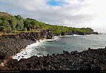 Puna Coast at Sunrise, Aa Lava, Big Island of Hawaii