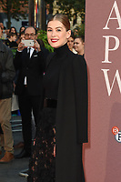 "Rosamund Pike<br /> arriving for the London Film Festival screening of ""A Private War"" at the Cineworld Leicester Square, London<br /> <br /> ©Ash Knotek  D3451  20/10/2018"
