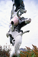 "Cow Sculpture at ""Lock City Dairies"", Sault Ste. Marie, ON, Ontario, Canada"