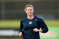 Sky Blue FC defender Melanie Booth (13). Sky Blue FC and the Chicago Red Stars played to a 1-1 tie during a National Women's Soccer League (NWSL) match at Yurcak Field in Piscataway, NJ, on May 8, 2013.