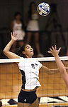 Nevada's Tessa Lea'ea hits against Seattle University during NCAA women's college volleyball in Reno, Nev., on Thursday, Oct. 20, 2011. Nevada won 3-0..Photo by Cathleen Allison