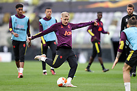25th May 2021; Gdansk, Poland; Manchester United training at the Stadion Energa Gdańsk prior to their Europa League final versus Villarreal on May 26th;  DONNY VAN DE BEEK shooting practise