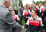 Ottawa ON - June 4 2014 - Josh Dueck meets the Governor General, his excellency David Johnston, during the Celebration of Excellence's visit to Rideau Hall. (Photo: Matthew Murnaghan/Canadian Paralympic Committee)