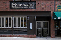 Scholars American Bistro and Cocktail Club, a large restaurant and bar in Downtown Crossing, announced a temporary closure on March 16, 2020, due to the ongoing Coronavirus (COVID-19) global pandemic Boston, Massachusetts, on Sat., Jan. 9, 2021.