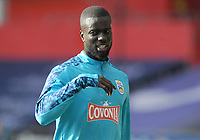 Huddersfield Town's Naby Sarr during the pre-match warm-up <br /> <br /> Photographer Ian Cook/CameraSport<br /> <br /> The EFL Sky Bet Championship - Swansea City v Huddersfield Town - Saturday 17th October 2020 - Liberty Stadium - Swansea<br /> <br /> World Copyright © 2020 CameraSport. All rights reserved. 43 Linden Ave. Countesthorpe. Leicester. England. LE8 5PG - Tel: +44 (0) 116 277 4147 - admin@camerasport.com - www.camerasport.com
