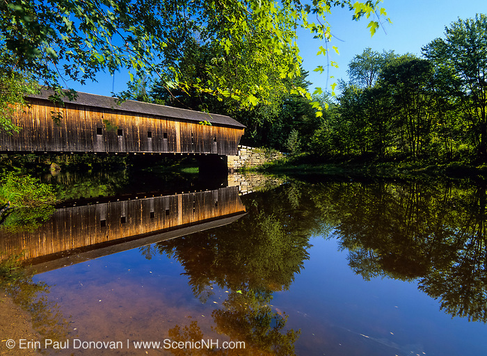 Hemlock Covered Bridge. Located in  Fryeburg, Maine, USA...Crosses the Saco  River. Built in 1857.