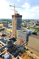 High rise construction workers reshape Charlotte as they construct new skyscrapers downtown. Photos taken as part of a story package on crane construction.