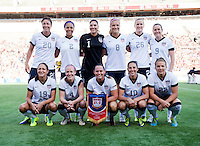 The USWNT lines up before an international friendly at the Florida Citrus Bowl in Orlando, FL.  The USWNT defeated Brazil, 4-1.