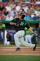 Dayton Dragons Cameron Warren (37) at bat during a Midwest League game against the Kane County Cougars on July 20, 2019 at Northwestern Medicine Field in Geneva, Illinois.  Dayton defeated Kane County 1-0.  (Mike Janes/Four Seam Images)