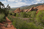 Urban interface in Red Rocks State Park, Colorado