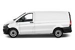 Car Driver side profile view of a 2020 Mercedes Benz eVito Base 4 Door Cargo Van Side View