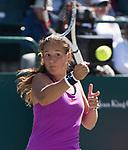 April  6, 2017:  Daria Kasatkina (RUS) battles against Daria Gavrilova (AUS),  at the Volvo Car Open being played at Family Circle Tennis Center in Charleston, South Carolina.  ©Leslie Billman/Tennisclix/Cal Sport Media