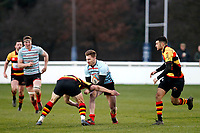 Leo Fielding of Blackheath Rugby during the English National League match between Richmond and Blackheath  at Richmond Athletic Ground, Richmond, United Kingdom on 4 January 2020. Photo by Carlton Myrie.