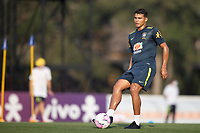 7th October 2020; Granja Comary, Teresopolis, Rio de Janeiro, Brazil; Qatar 2022 qualifiers; Thiago Silva of Brazil during training session