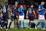 St Johnstone v Ross County…..29.12.19   McDiarmid Park   SPFL<br />Murray Davidson has words with Brian Graham<br />Picture by Graeme Hart.<br />Copyright Perthshire Picture Agency<br />Tel: 01738 623350  Mobile: 07990 594431