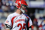 Face-Off Classic: Midfielder JJ Gilbane #25 of the Cornell Bears during the Virginia v Cornell mens lacrosse game at M&T Bank Stadium on March 10, 2012 in Baltimore, Maryland.(Ryan Lasek/Eclipse Sportswire)