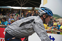 David Millar (GBR) coming in battered <br /> <br /> Tour de France 2013<br /> stage 19: Bourg-d'Oisans to Le Grand-Bornand<br /> 204,5km