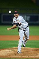 Scottsdale Scorpions pitcher Adalberto Mejia (52) delivers a pitch during an Arizona Fall League game against the Salt River Rafters on October 13, 2015 at Salt River Fields at Talking Stick in Scottsdale, Arizona.  Salt River defeated Scottsdale 5-3.  (Mike Janes/Four Seam Images)