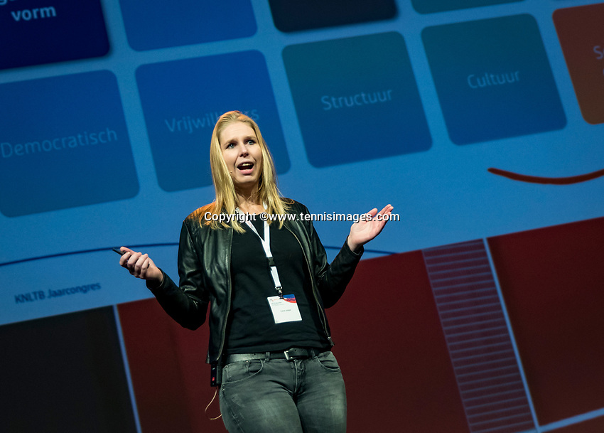 Nieuwegein, Netherlands, November 23,  2019, MBC Congrescentrum, KNLTB Year Congres , presentation Laura Jonker<br /> Photo: Tennisimages/Henk Koster