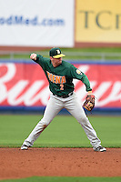 Siena Saints infielder Brett Connors (2) throws to first during the second game of a doubleheader against the Michigan Wolverines on February 27, 2015 at Tradition Field in St. Lucie, Florida.  Michigan defeated Siena 6-0.  (Mike Janes/Four Seam Images)
