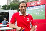 HSBC ambassador Jason Robinson at the Sevens Village during HSBC Hong Kong Rugby Sevens 2016 on 08 April 2016 at Hong Kong Stadium in Hong Kong, China. Photo by Moses Ng / Power Sport Images
