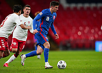 Mason Mount (Chelsea) of England during the UEFA Nations League match played behind closed doors due to the current government Covid-19 rules within sports venues between England and Denmark at Wembley Stadium, London, England on 14 October 2020. Photo by Andy Rowland.