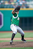 Dayton Dragons pitcher Ismael Guillon #25 during a Midwest League game against the Fort Wayne TinCaps at Parkview Field on August 19, 2012 in Fort Wayne, Indiana.  Dayton defeated Fort Wayne 5-1.  (Mike Janes/Four Seam Images)