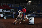 Kaitlyn Prentice during the second round of barrel qualifiers at the WCRA Stampede at the E. Photo by Andy Watson
