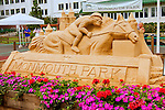 OCEANPORT, NJ - JULY 02: Monmouth Scene _ Monmouth's version of a sand castle at Monmouth Park, July 2, 2016 in Oceanport, New Jersey. (Photo by Sue Kawczynsk/Eclipse Sportswire/Getty Images)