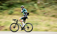 Daniel Oss (ITA/BORA-hansgrohe) getting his jacket straight while speeding down the Col de Marie Blanque (1st Cat)<br /> <br /> Stage 9 from Pau to Laruns (153km)<br /> <br /> 107th Tour de France 2020 (2.UWT)<br /> (the 'postponed edition' held in september)<br /> <br /> ©kramon