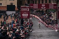 Tiesj Benoot (BEL/Lotto-Soudal) wins the 12th Strade Bianche 2018<br /> <br /> Siena > Siena: 184km (ITALY)