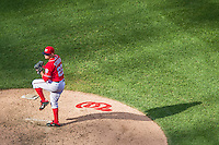 7 September 2014: Washington Nationals pitcher Drew Storen on the mound against the Philadelphia Phillies at Nationals Park in Washington, DC. The Nationals defeated the Phillies 3-2 to salvage the final game of their 3-game series. Mandatory Credit: Ed Wolfstein Photo *** RAW (NEF) Image File Available ***