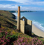 Grossbritannien, England, Cornwall, bei St. Agnes: Ruinen der Wheal Coates Zinnmine an Cornwalls Nordkueste | Great Britain, England, Cornwall, near St. Agnes: Ruin of Wheal Coates tin mine on the North Cornwall coast