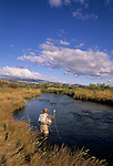 Fly fishing on O'dell Spring Creek in Montana
