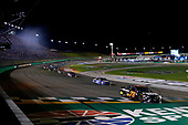 Monster Energy NASCAR Cup Series<br /> Quaker State 400<br /> Kentucky Speedway, Sparta, KY USA<br /> Saturday 8 July 2017<br /> Martin Truex Jr, Furniture Row Racing, Furniture Row/Denver Mattress Toyota Camry drives under the checkered flag to win<br /> World Copyright: Russell LaBounty<br /> LAT Images