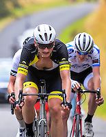 Hamish Bond (Team Blindz Direct) finishes the NZ Cycle Classic stage two of the UCI Oceania Tour in Wairarapa, New Zealand on Monday, 23 January 2017. Photo: Dave Lintott / lintottphoto.co.nz