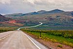 A road winds through Montana