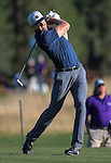 NFL quarterback Alex Smith putts in the final round of the American Century Championship at Edgewood Tahoe Golf Course in Stateline, Nev., on Sunday, July 19, 2015. <br /> Photo by Cathleen Allison