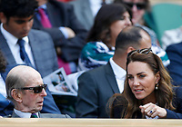 2nd July 2021; Wimbledon, SW London. England; Wimbledon Tennis Championships, day 5;  The Duchess of Cambridge in the royal box during for womens singles third round match between Garbine Muguruza of Spain and Ons Jabeur of Tunisia