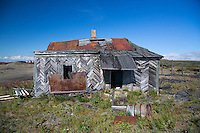 Ruined house near the airport in Anadyr