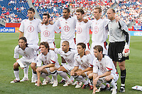 USA's starting 11. The United States and Costa Rica played to a scoreless tie in phase one CONCACAF Gold Cup action in Group B at Gillette Stadium, Foxbourgh, MA, on July 12, 2005. Both teams have already qualified for the quarterfinals on July 16th.