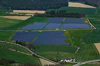 aerial photograh of a solar farm, Bavaria, Germany